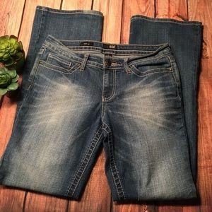 A.n.a Boot Cut Distressed Denim Jeans Size 6